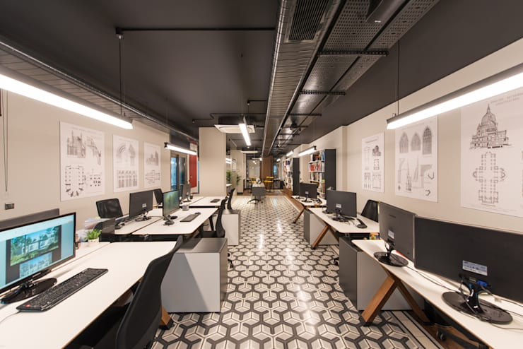Design Office / Sia Moore Head Office de Sia Moore Archıtecture Interıor Desıgn Industrial Cerámico