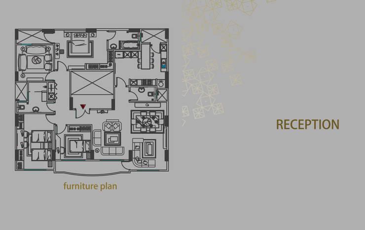 شقة زفتي:  تصميم مساحات داخلية تنفيذ Art Attack,