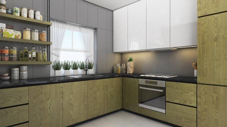 Beta İç Mimarlık – MLT Evi:  tarz Mutfak