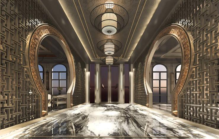 大門內廊:   by 雲展建築設計 Winstarts Architectural Design Group