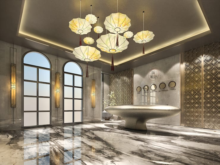 LOBBY:   by 雲展建築設計 Winstarts Architectural Design Group