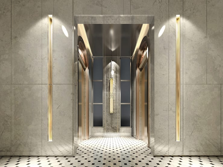 梯廳:   by 雲展建築設計 Winstarts Architectural Design Group