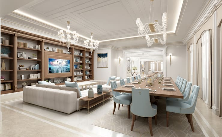 Sia Moore Archıtecture Interıor Desıgn – Yemek Alanı / Majidi Konağı :  tarz Yemek Odası, Eklektik Masif Ahşap Rengarenk
