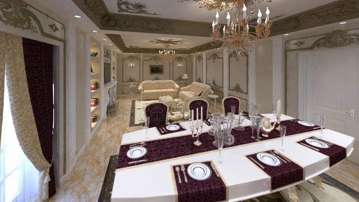 شقه فى الشيخ زايد:  غرفة السفرة تنفيذ lifestyle_interiordesign