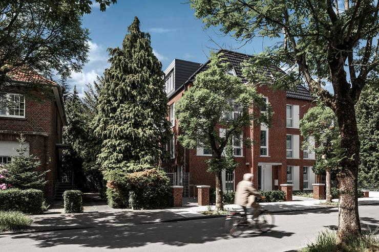 'Sechs Richtige' - Traditionelles Mehrfamilienhaus in Münster, mit 6 Wohneinheiten:  Mehrfamilienhaus von Hilger Architekten