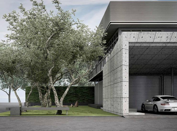 P911:  โรงจอดรถ by Metaphor Design Studio