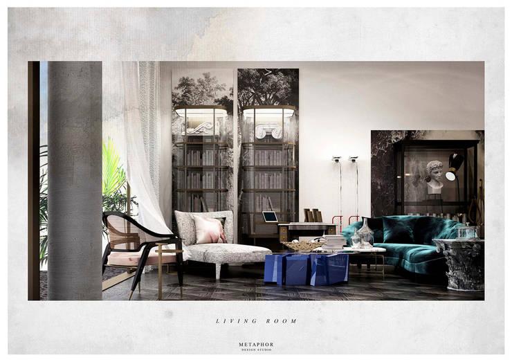 Living room by Metaphor Design Studio, Classic