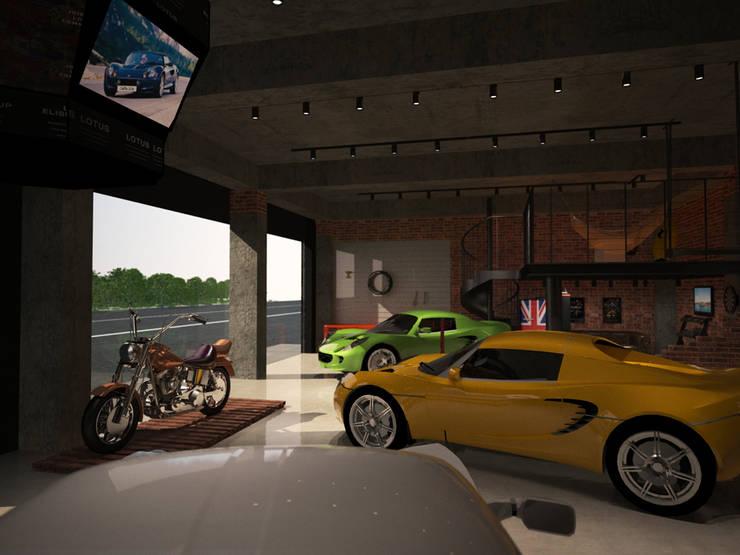 쇼룸 인테리어- 로터스코리아 3D: 그리다아이디의  ,