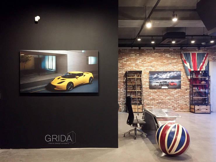 쇼룸 인테리어- 로터스코리아: 그리다아이디의  서재 & 사무실,