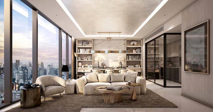 Living room by Metaphor Design Studio, Modern