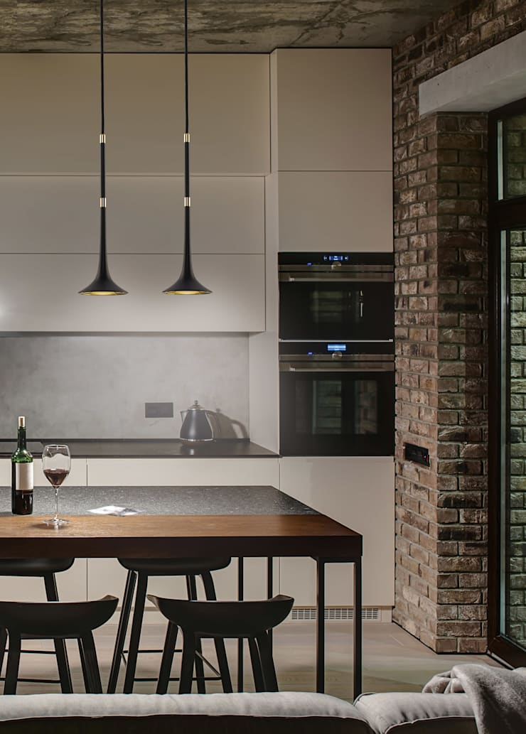Black Loft Ceiling Single Pendant Light Brass lights:  Kitchen by Luxury Chandelier,