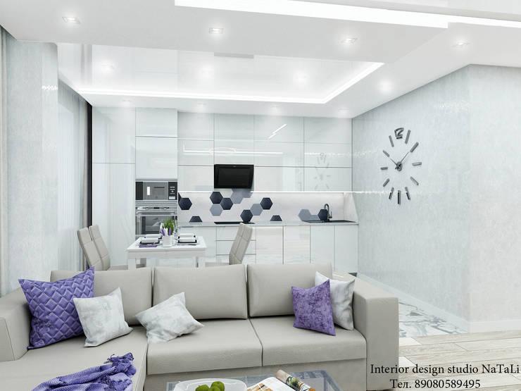 Дизайн интерьера в ЖК Ньютон: Гостиная в . Автор – Interior design studio NaTaLi ( Студия дизайна интерьера Натали)