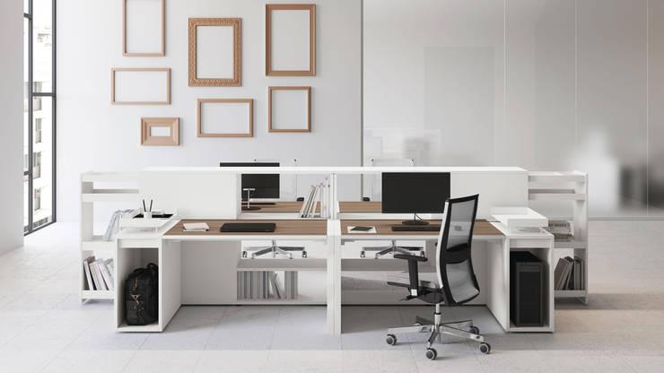 Study/office by Arq Fatima Marin Juarez, Modern MDF