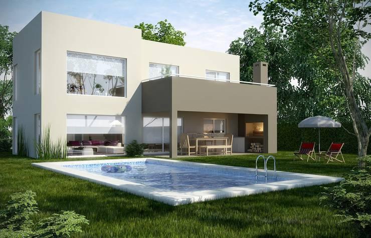 Front yard by Arq Fatima Marin Juarez, Modern Concrete