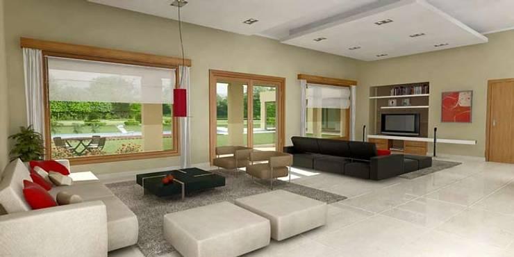 Living room by Arq Fatima Marin Juarez, Modern Concrete