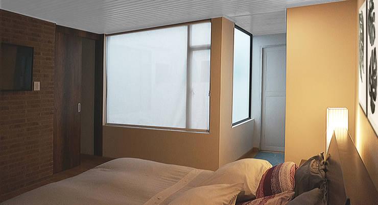 Phòng ngủ nhỏ theo TikTAK ARQUITECTOS, Nhiệt đới