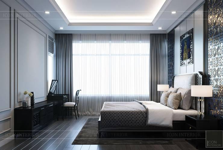 PHONG CÁCH ĐÔNG DƯƠNG – Một vẻ đẹp thuần túy trong Thiết kế căn hộ Saigon Pearl :  Phòng ngủ by ICON INTERIOR