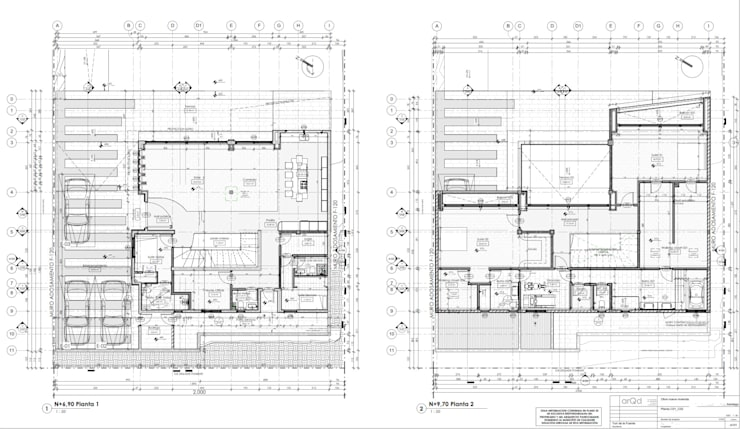 Planta casa:  de estilo  por ARQD spa