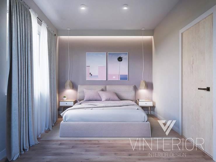 Modern combination of minimalism for young couple Minimalistische Schlafzimmer von Vinterior - дизайн интерьера Minimalistisch