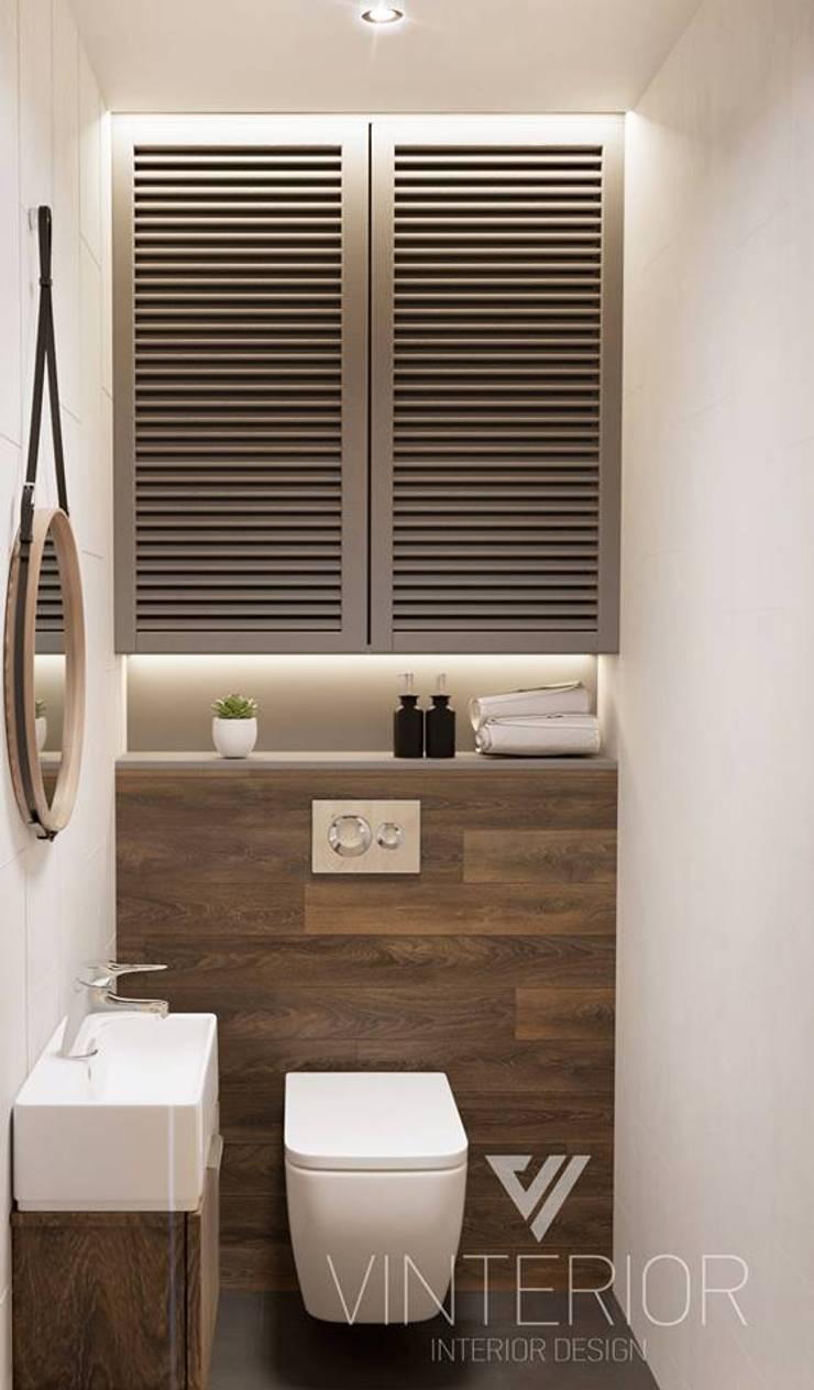 Modern combination of minimalism for young couple Minimalistische Badezimmer von Vinterior - дизайн интерьера Minimalistisch
