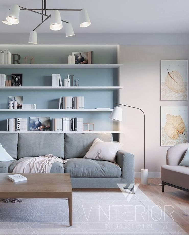 Modern combination of minimalism for young couple Minimalistische Wohnzimmer von Vinterior - дизайн интерьера Minimalistisch