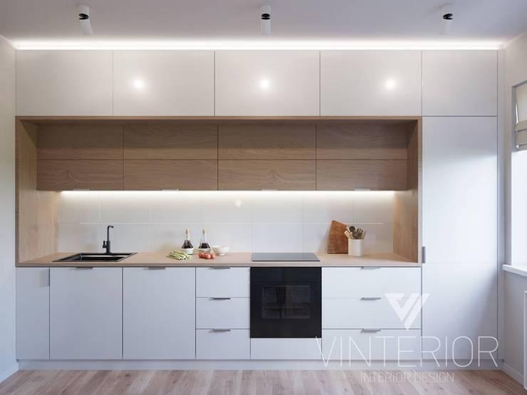 Modern combination of minimalism for young couple Minimalistische Küchen von Vinterior - дизайн интерьера Minimalistisch