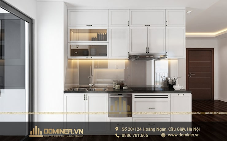 Không gian bếp:   by Thiết kế - Nội thất - Dominer