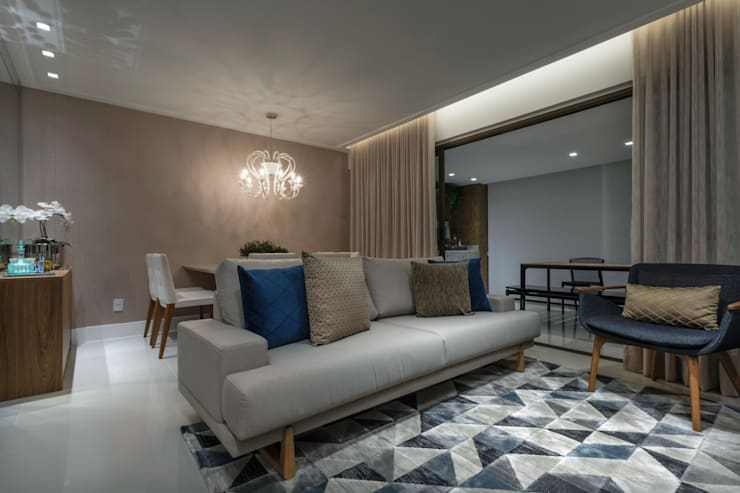 Living room by Bruno Sgrillo Arquitetura, Modern