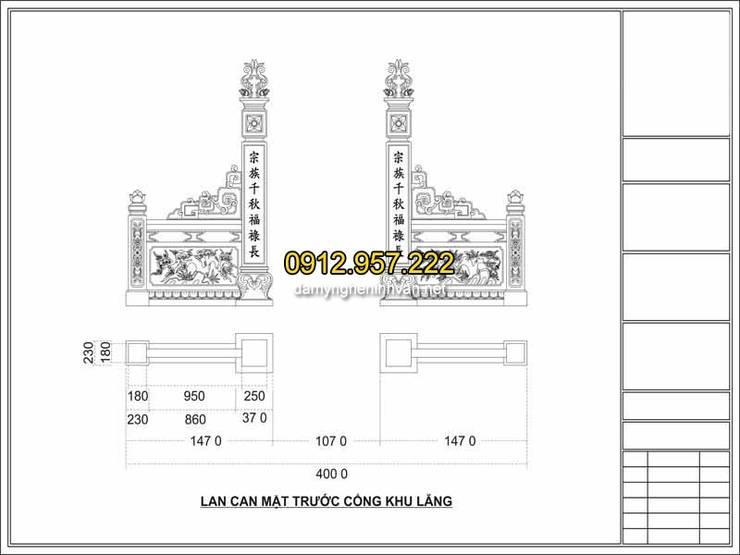 Bản vẽ thiết kế mộ đẹp chuẩn phong thủy:   by CÔNG TY TNHH ĐÁ MỸ NGHỆ NINH BÌNH