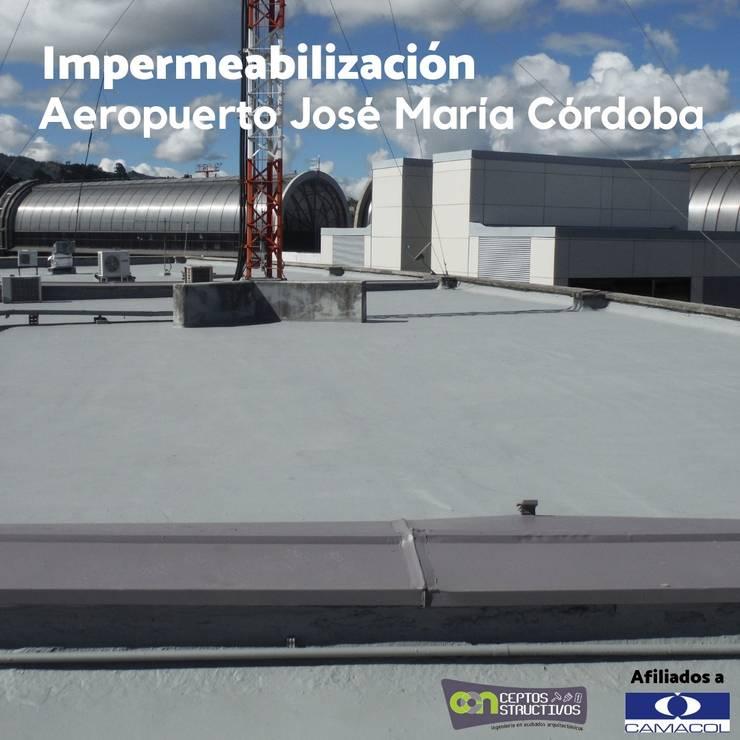Impermeabilización del Aeropuerto : Casas de estilo  por Milena Rojas Construcciones, Moderno