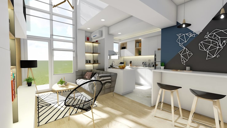 New Kitchen:  Dining room by Structura Architects