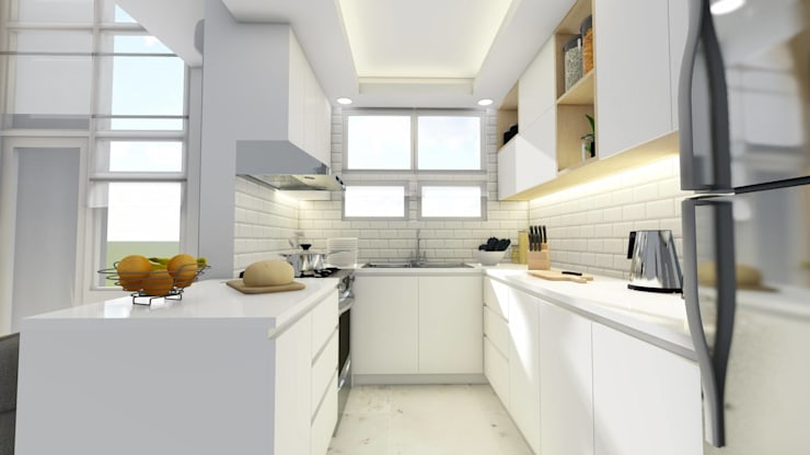 New Kitchen:  Small kitchens by Structura Architects