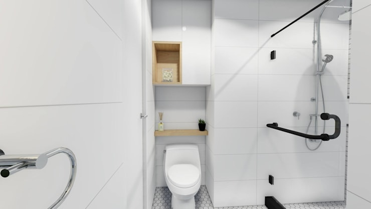 Interior Fit-Out and Design for a Condo Unit:  Bathroom by Structura Architects