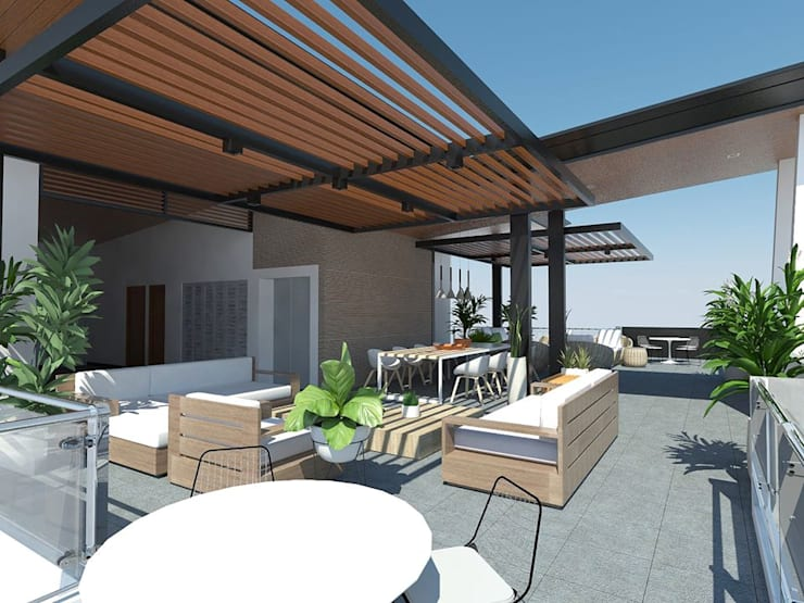 View of Roof Deck:  Balcony by Structura Architects