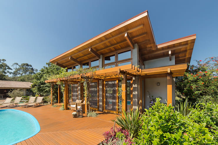 Country house by Arqsoft Arquitetura e Engenharia LTDA, Rustic