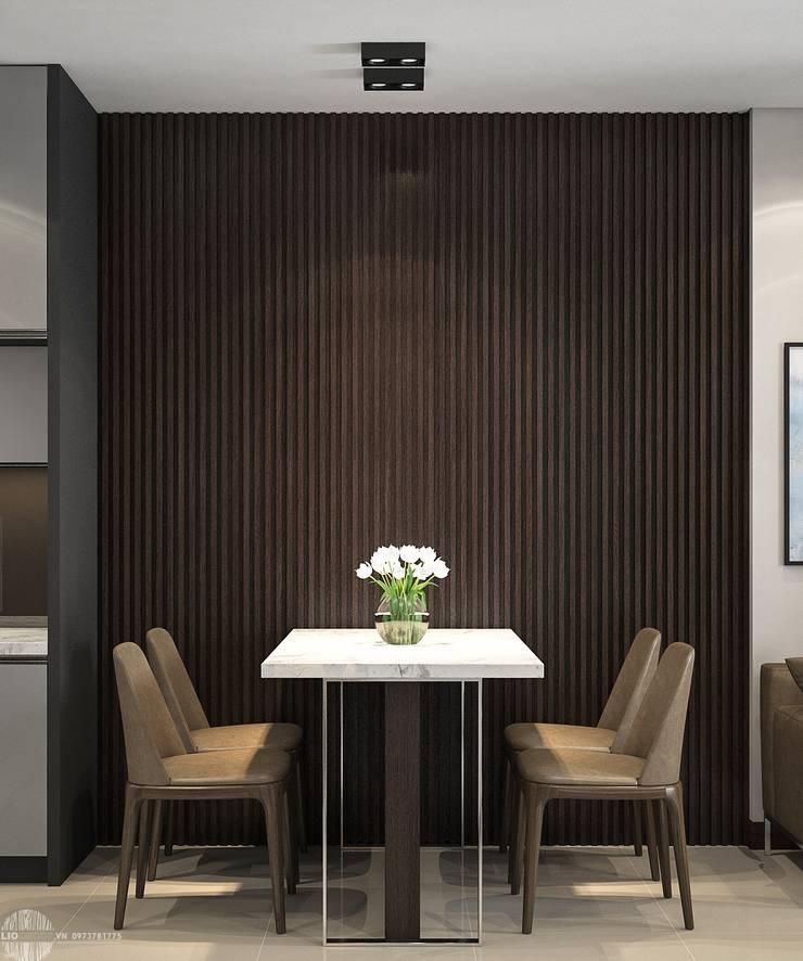 Thiết kế thi công nội thất chung cư Hà Đô HCM:  Phòng ăn by Lio Decor
