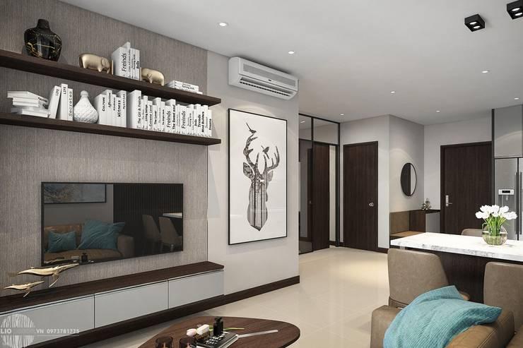 Thiết kế thi công nội thất chung cư Hà Đô HCM:  Phòng khách by Lio Decor