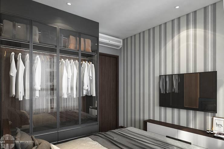 Thiết kế thi công nội thất chung cư Hà Đô HCM:  Phòng ngủ by Lio Decor
