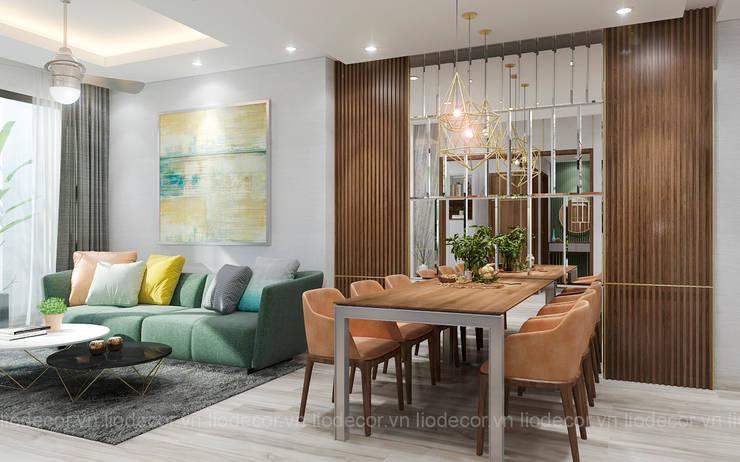 Phòng khách chung cư:  Phòng khách by Lio Decor