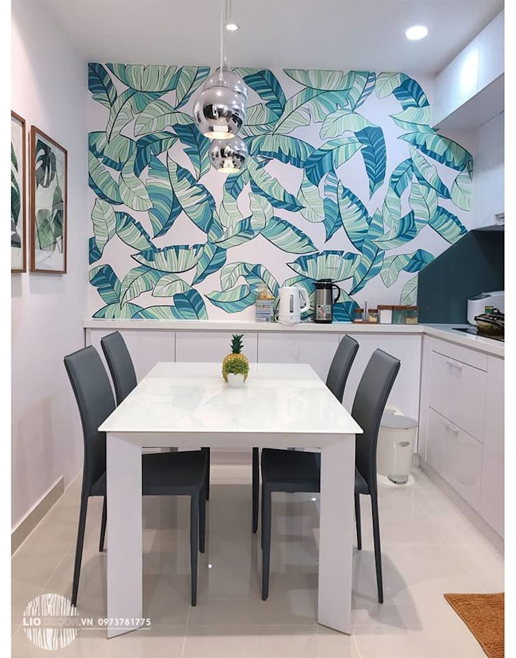 Nội thất bếp:  Dining room by Lio Decor