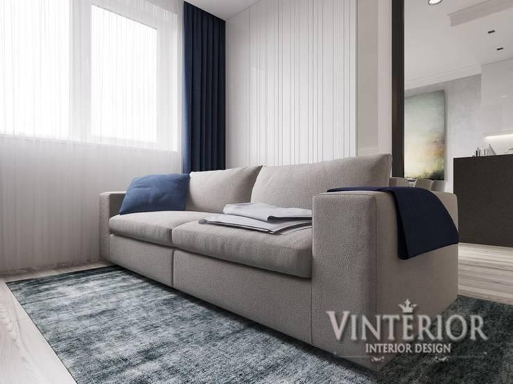 ห้องนั่งเล่น โดย Vinterior - дизайн интерьера, โมเดิร์น