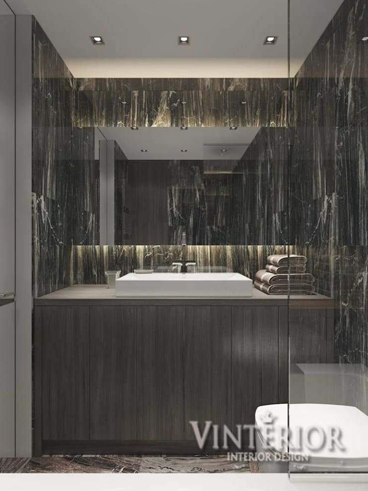 ห้องน้ำ โดย Vinterior - дизайн интерьера, โมเดิร์น