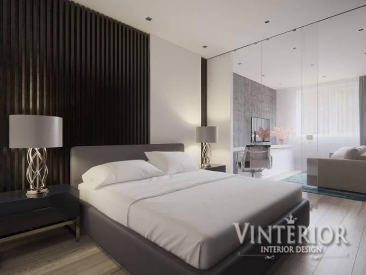ห้องนอน โดย Vinterior - дизайн интерьера, โมเดิร์น