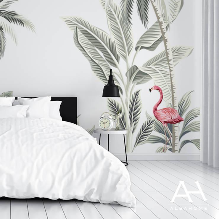 Tropical: Paredes de estilo  por Alba Home