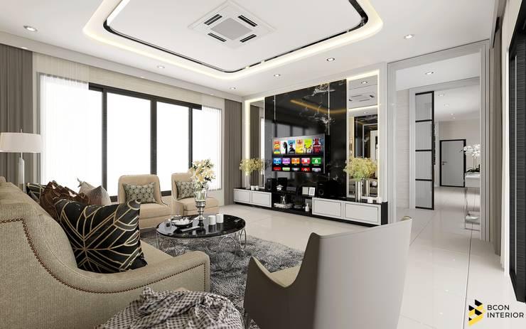 ผลงานการออกแบบตกแต่งภายในบ้านพักอาศัย:  ห้องมัลติมีเดีย by Bcon Interior