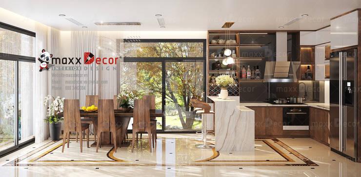 Thiết kế thi công nội thất gỗ óc chó tại chung cư :   by Nội thất cao cấp maxxDecor
