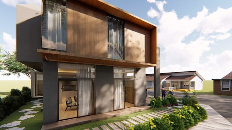 View of Garden Adjacent to Living Area:  Zen garden by Structura Architects