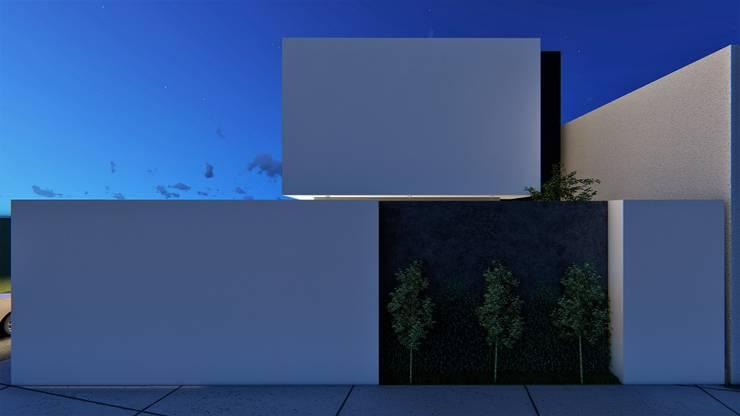 Casas unifamiliares de estilo  por Taller NR Arquitectura,
