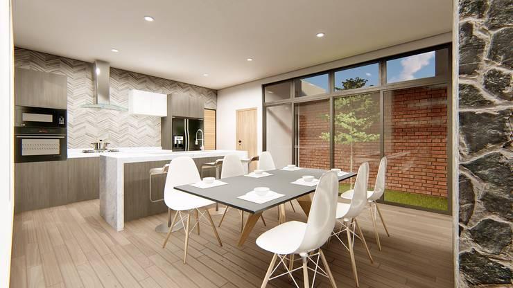 Cocinas de estilo  por Taller NR Arquitectura,