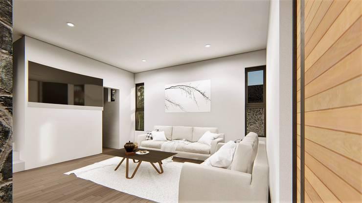 Salas / recibidores de estilo  por Taller NR Arquitectura,